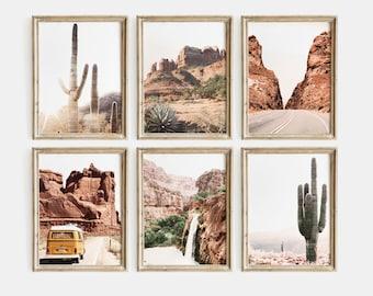 Desert Set Of 6 Prints, Cactus Print, Joshua Tree Print, Nature Prints, Desert Wall Art, Cactus Wall Art, Nature Photography, Arizona Print