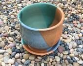 Planter, Pottery, Gardening, Houseplant, Ceramic, Gift, Handmade, Colorful, Glazed