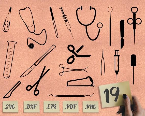 Medical Tools Svg Medical Svg Nurse Svg Stethoscope Svg Etsy