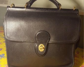 78800fd9d9c6 Vintage Coach Willis Black Leather Crossbody Handbag 9927