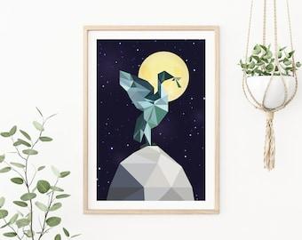 Liver Bird Print   Night edition