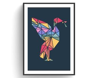 Liver Bird- rainbow edition