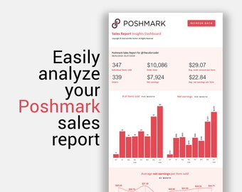 544bd81b2cdb Poshmark Excel Sales Report Insights Dashboard for Resellers