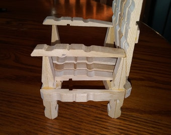 Excellent Clothespin Chair Etsy Squirreltailoven Fun Painted Chair Ideas Images Squirreltailovenorg