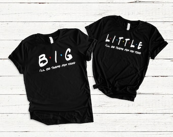 7a54eee9c Big Little College Sorority shirts,Friends,Matching Sisters,Big Shirt, Little  Shirt, Gbig,GGbig,Reveal Shirt,Rush,Gifts for her,Choose Color