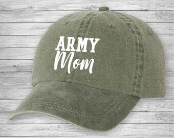 8573263dec0 Army Mom Pigment hat, Cute Hat, Baseball Hat, Mothers day Gift, Mom To be,  Pigment Hat, Strapback hat