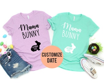 184a2daac8e57 Easter pregnancy announcement shirt, Mama Bunny baby Bunny , Womens Easter  shirt, Funny Easter shirt, Pregnancy t shirt, Easter Bunny