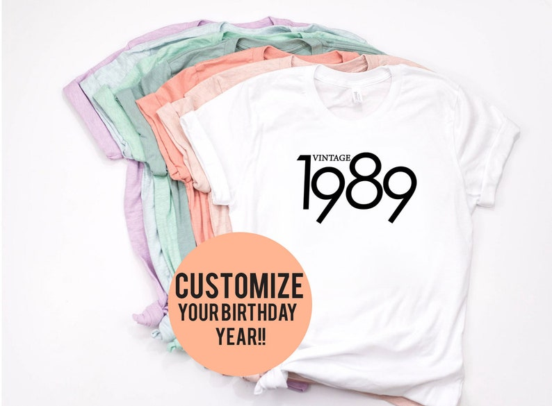 Men/'s 30th Birthday T-Shirt 1989 Vintage Man Thirtieth 30 years Gift
