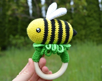 Crochet Pattern Bee PDF Rattle Crochet Pattern Tutorial | Etsy | 270x340