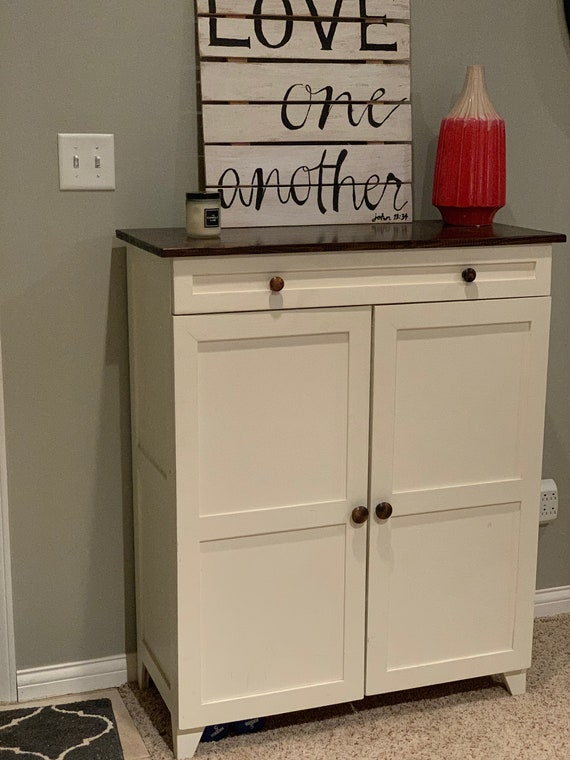 Farmhouse Shoe Storage Cabinet With Drawer Etsy