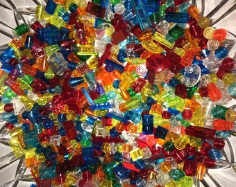 New LEGO Lot of 25 Translucent Red 1x1 Minifigure Jewel Gem Accessory Pieces