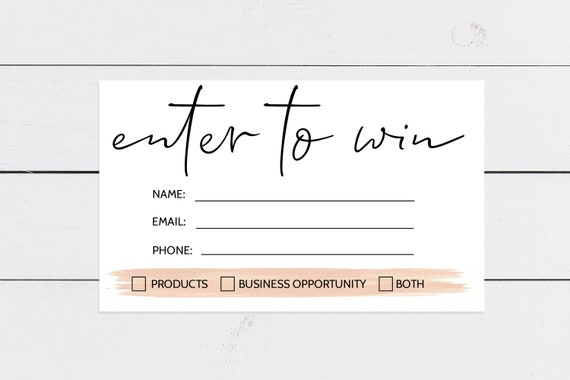 Raffle Ticket Template Enter To Win Template Business Etsy