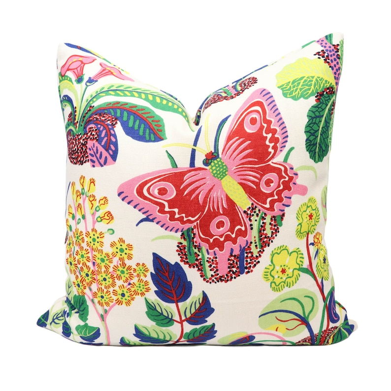 Schumacher Exotic Butterfly pillow cover in Spring 176184 // image 0