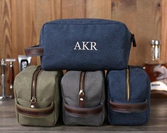 Personalized Groomsmen Gift, Canvas Dopp Kit, Men's Toiletry Bag, Monogrammed Shaving Kit, Travel Dopp Kit, Men's Travel Case, Best Man Gift