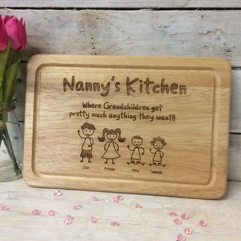 Personalised Chopping Board  Nanny's Kitchen image 1