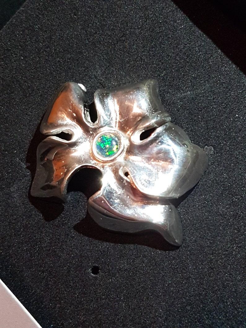 Silver 925 silver brooch silver 925 leaf pin