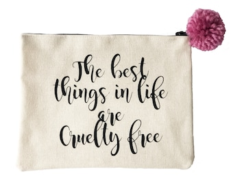 bf9be8c167 Cruelty Free Slogan Makeup Bag
