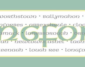 Irish County Table Runner, Longford