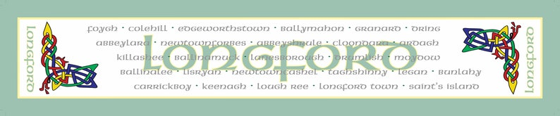 Longford Irish County Table Runner