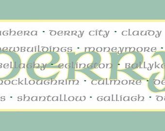 Irish County Table Runner, Derry