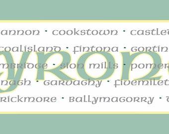 Irish County Table Runner, Tyrone