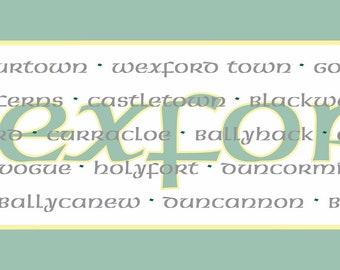 Irish County Table Runner, Wexford