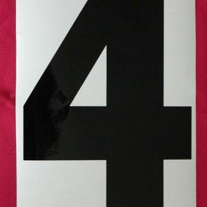 """25mm 1/"""" Self Adhesive Numbers // Letters you choose upto 60"""