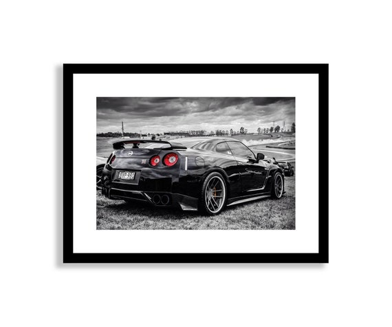 NISSAN GT-R SUPER SPORTS CAR POSTER PICTURE PRINT Size A5 to A0 **NEW**