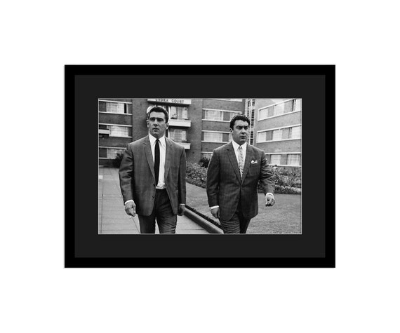 London Gangster The Kray Twins Picture Print on Framed Canvas Wall Art Decor