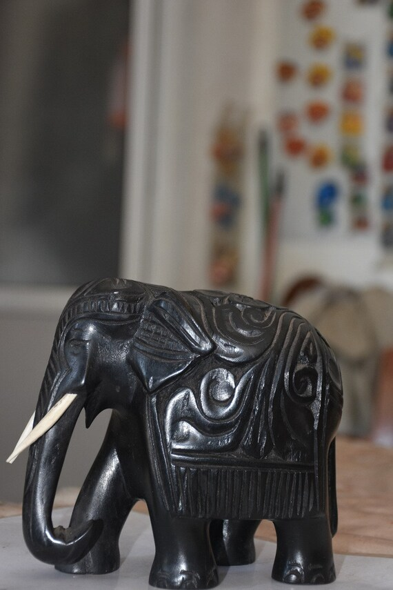 New Sri Lankan Wooden Elephant Figure Free Shipping Statue//Sculpture