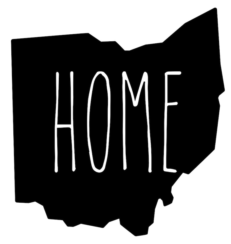 Ohio home decal for car white vinyl