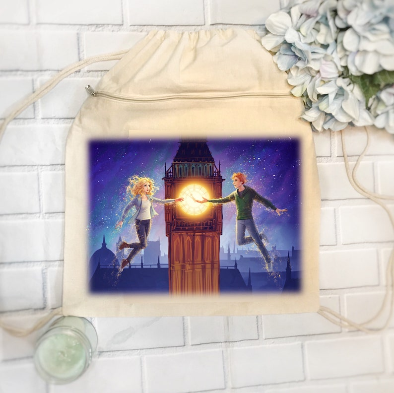 Peter Pan  Claire Drawstring Backpack  Dust by Kara Swanson image 0