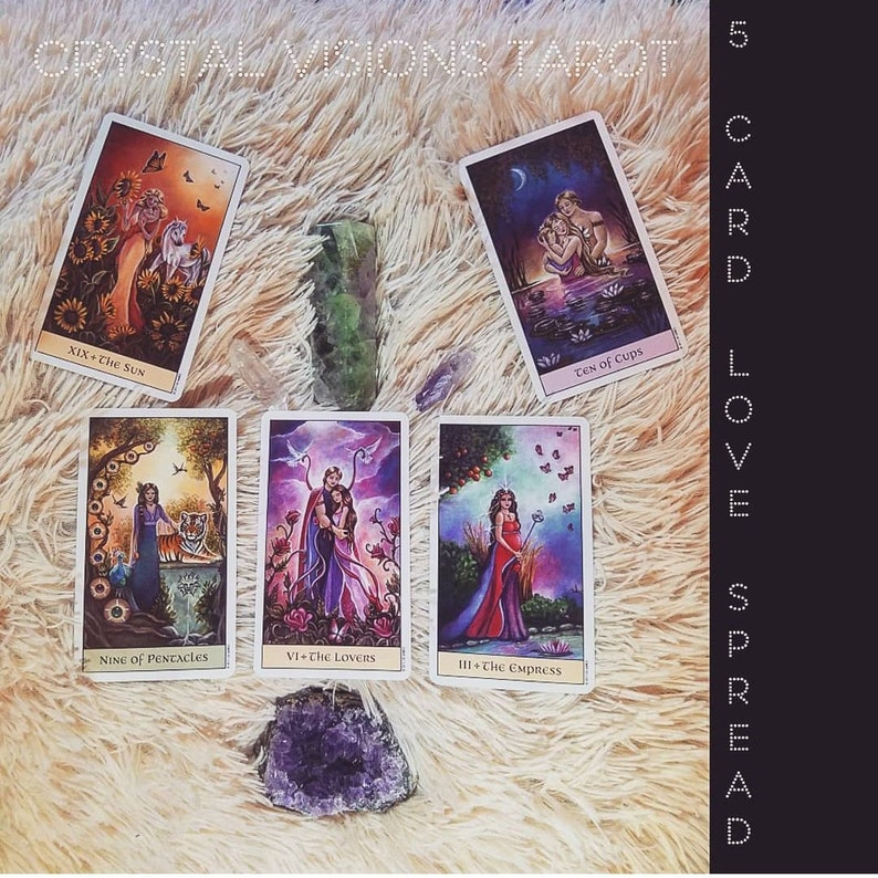 5 Card Love, Relationship, and Friendship Tarot Spread from the Crystal  Visions Tarot Deck