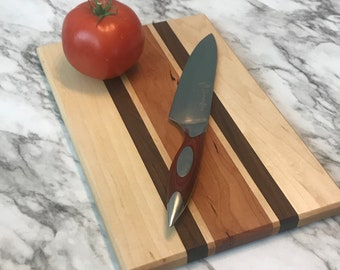 Client Gift Cutting Board Gifts For Mom Farmhouse Style Housewarming Walnut Sapele /& Hard Maple New Home Gift Wedding Gift