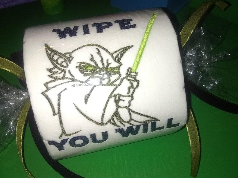Yoda Embroidered Toilet Paper Star Wars Fan Best Gift Wipe you will Gag 2020 Love TP Spiritual Spirit Galaxy Shit Novelty Awakening PARTY YO