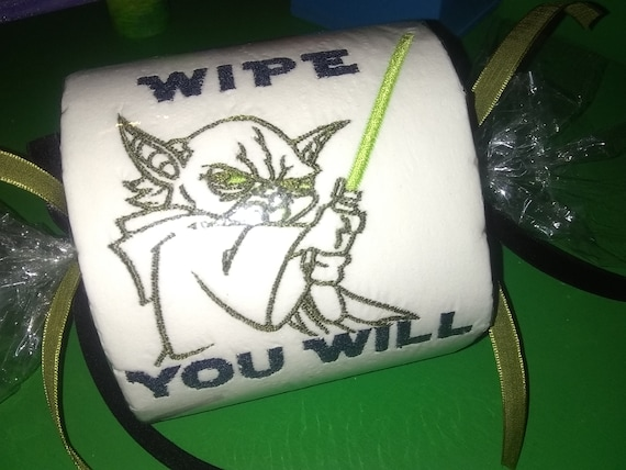 Yoda Embroidered Toilet Paper Star Wars Fan Best Gift wipe you will Yoda Gag Present The Great Awakening Love TP Spirit Galaxy Novelty Shit