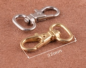 8 Pcs- Silver Gold 32 17 13 mm Zinc Alloy Swivel hook Dog Clasp Lobster Clasp are perfect accessories for DIY leather and cotton handbags