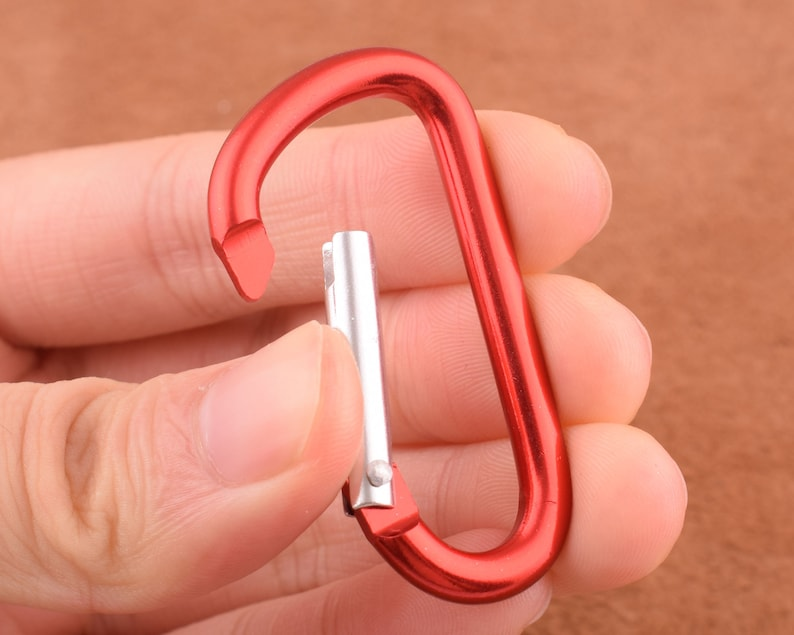 Carabiner Clip Push gate clip Carabiner Camp Snap hook 1.5 inch Carabiner keychain carabiner hook clasp spring D ring Screw Lock Key Chain