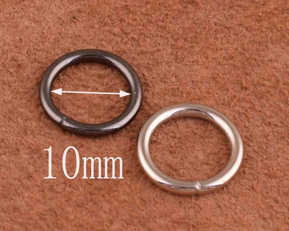 20pcs 2 x 10mm Solid brass jump rings Connectors for Craft Fob wallet chain