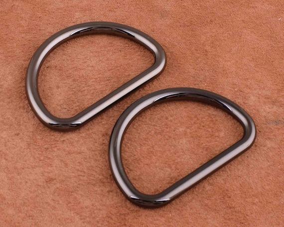 "50 mm 2/""    NICKEL  D rings Dog  Bag Strap Leathercraft HEAVY DUTY"