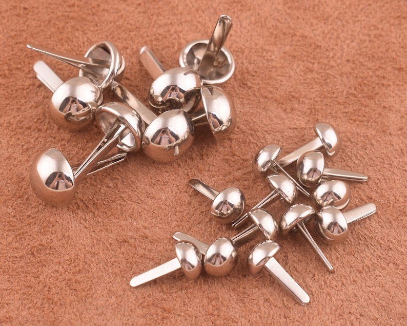Papercrafting Scrapbooking umbo Round Brads bulk Rounds 100pcs silver Colored Brads Cards Paper fasteners