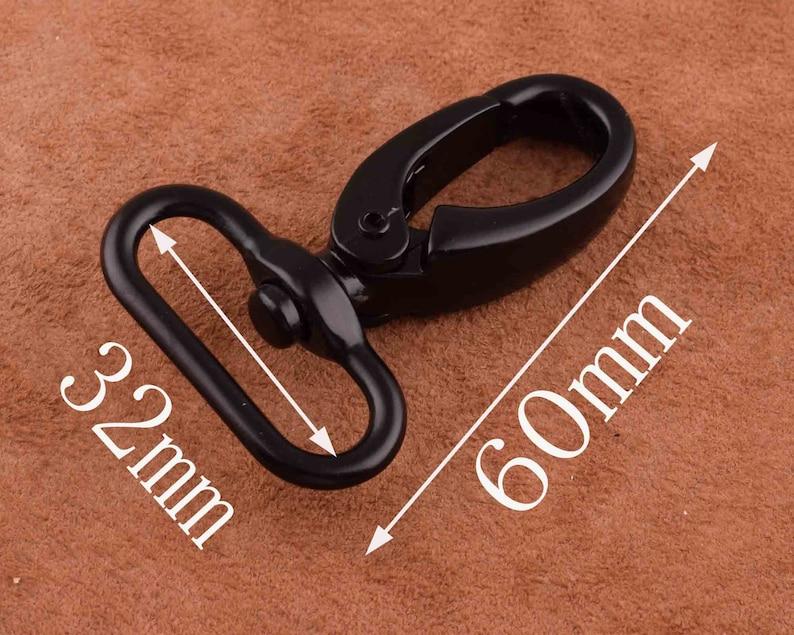Swivel Snap Hook,Swivel Lever Snap Hook swivel clip 60*32mm Trigger clasp,Bag Handbag Strap Handle for pursebagdiy making supplies
