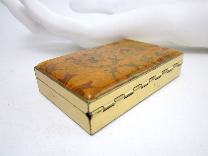 vintage can for pills Mini jewelry box pill can small gift