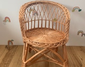 Wicker baby handmade kids chair NATURAL