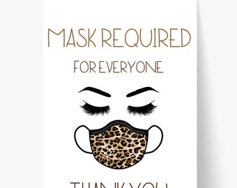 Printable Mask Sign/ Vaccine Sign/ Mask Sign/ Mask Required For Everyone/ Door Sign/ Business Sign/ Window Sign/ Mask Required Sign/ Covid
