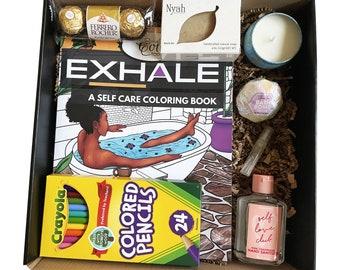 Self Care / Self-Care Kit / Self Care Gift Box / Black Girl/ Care Package/ Self Care Box/ For Black Women/ Self-Care/ Self Love/ Affirmation