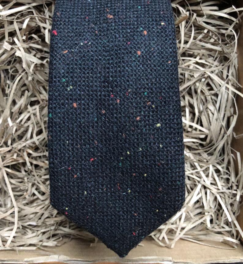 Black Ties for Men The Calla Necktie: Black Tie Mens Ties Black Flacked Wool Tie Wedding Ties