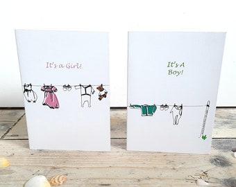 Multi functional New Baby Greetings Card