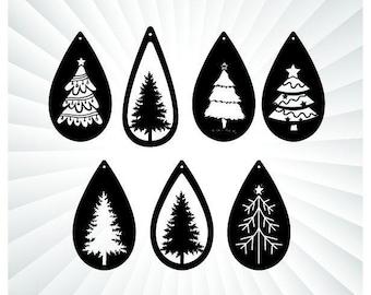 Tree Earring Svg Etsy