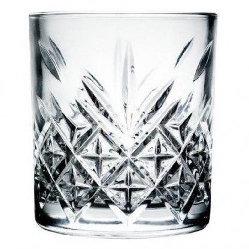 Cut crystal Effect Tumbler Personalized Monogrammed Whiskey Glass Custom Whisky Tumbler Glass Gift For Dad Him